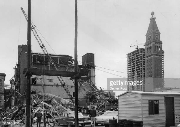 The Old Miller Stockman building at 1549 Lawrence St is coming down to make way for the Skyline urban renewal project in lower downtown Denver The...