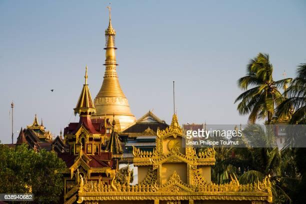 The old Moulmein Pagoda (Kyaik Than Lan Pagoda), Mawlamyine, Mon State, Southern Myanmar (Burma)