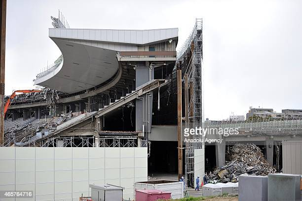 The old National olympic stadium of Tokyo Sendagaya district built for the 1964 Olympic games is destroyed to give way to a next modern and...