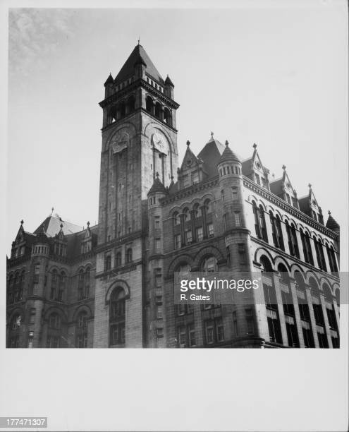 The Old Naval Post Office and Clock Tower Pennsylvania Avenue Washington D C circa 19401960