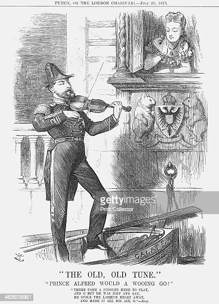 The Old Old Tune 1873 Prince Alfred serenades his bride to be Her Russian ancestry is illustrated in the two bears on the crest beneath her...