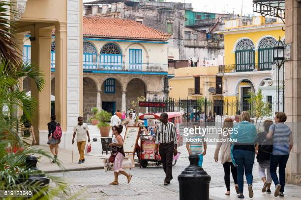 The 'Old Plaza' in Havana a famous tourist attraction Old Havana is a Unesco World Heritage Site