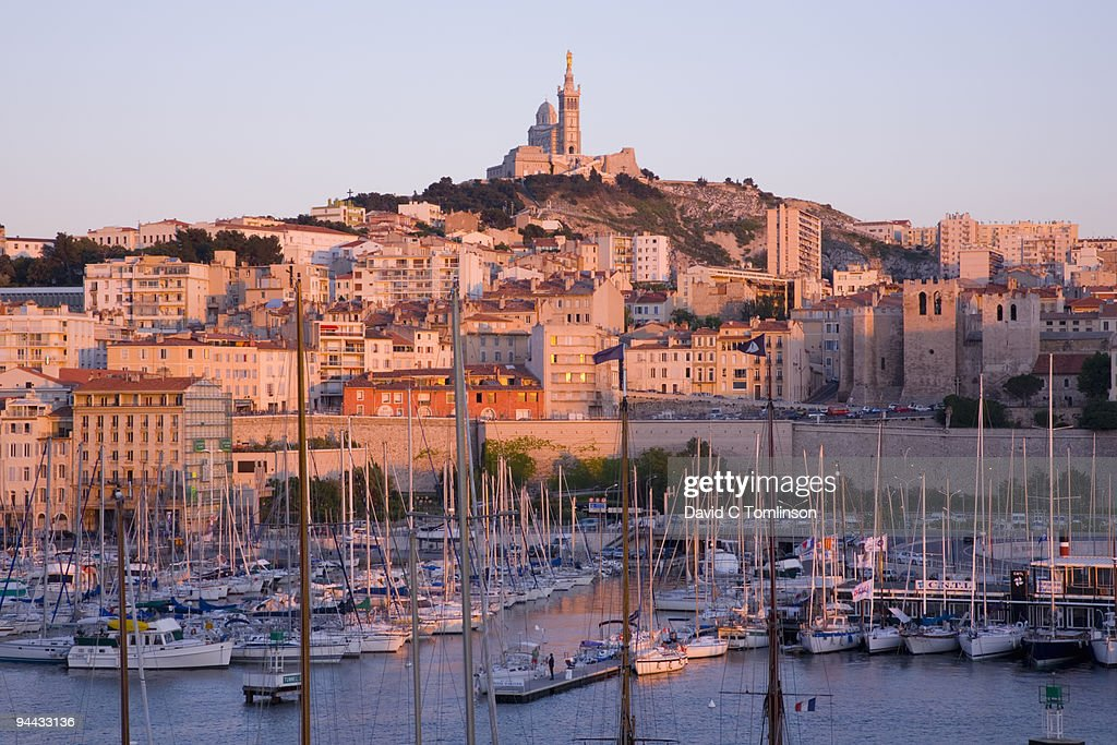 The Old Port at sunset, Marseille, France