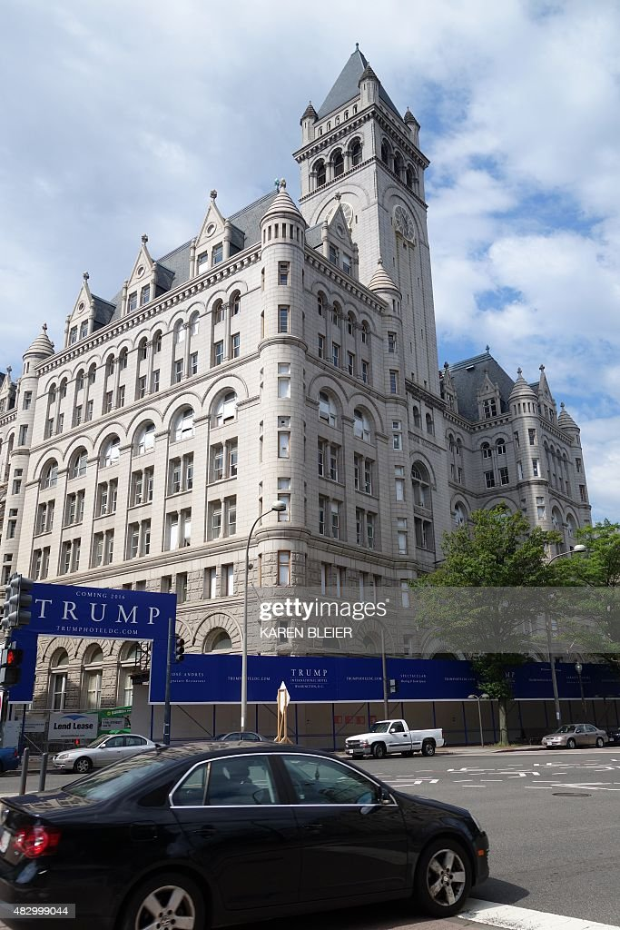 The Old Post Office building soon to be the Trump International Hotel is seen August 1 2015 in Washington DC The Old Post Office is located at the...