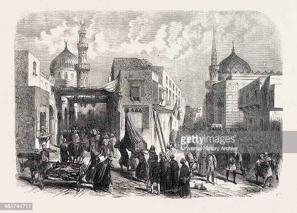 The Old Quarter Of Cairo During The Prevalence Of Cholera The Ambulance Of The French Consulate Egypt