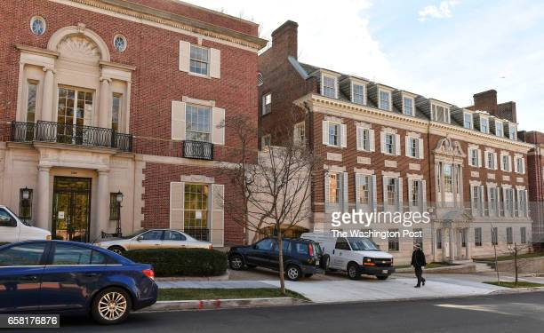 The old Textile Museum which was recently purchased by Amazon founder Jeff Bezos is photographed in the Kalorama neighborhood of Northwest on January...