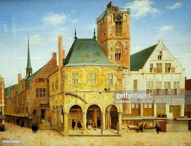 The Old Town Hall of Amsterdam Painted by Pieter Jansz Saenredam Dated 17th Century