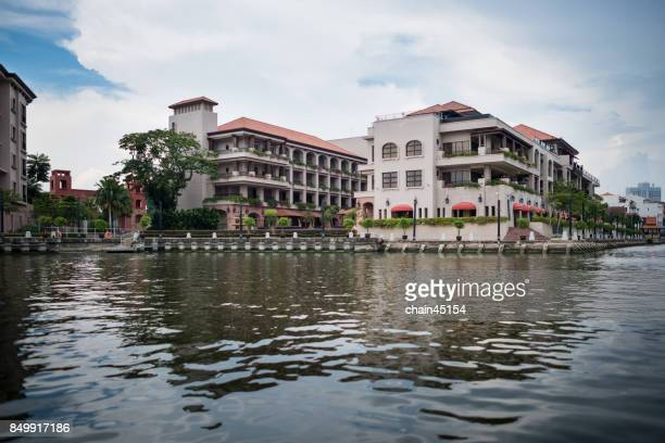 The old town in Malaysia of Malacca with Malacca river that UNESCO World Heritage Site in Malaysia.
