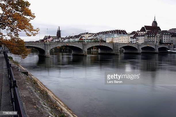 The Old Town of Basel is seen next to the river Rhine on November 14 2006 in Basel Switzerland Basel is one of the host cities that will be used to...
