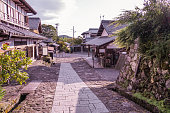 The old  town or old buildings of Magome  for  the travelers walking at old street in Nagano Prefecture, JAPAN.