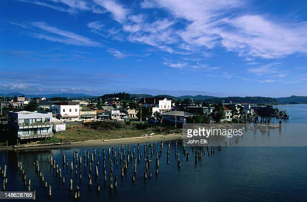 The old township of Florence that sits on the Siuslaw River, Oregon