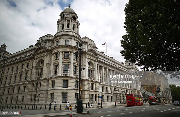 The Old War Office dominates Whitehall on July 27 2015 in London England Great Scotland Yard The Old War Office Great Scotland Yard and Admiralty...
