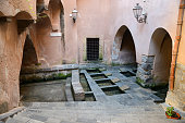 The old wash house in the center of Cefalu, Sicily, Italy