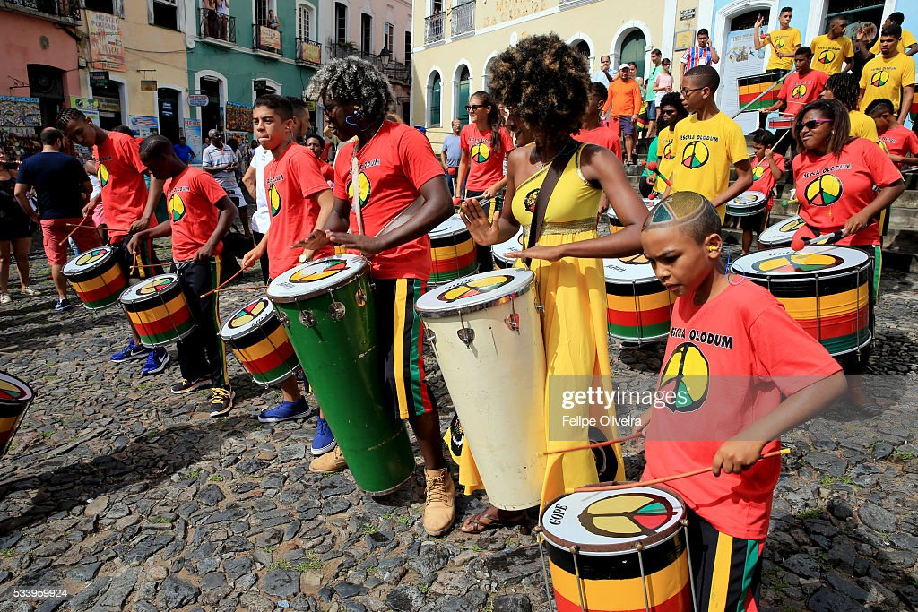 The Olodum, on May 24, 2016 in Salvador, Brazil.