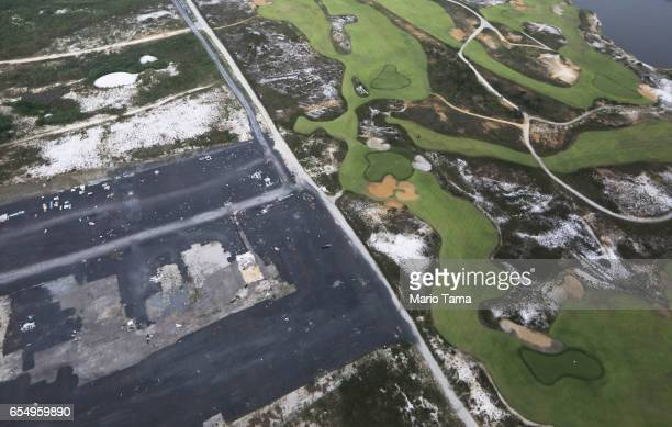 The Olympic Golf Course stands partially degraded next to vacant lots on March 17 2017 in Rio de Janeiro Brazil Seven months after the Rio hosted the...