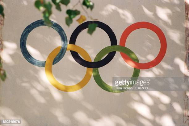 The Olympic rings at the Vingis Stadium