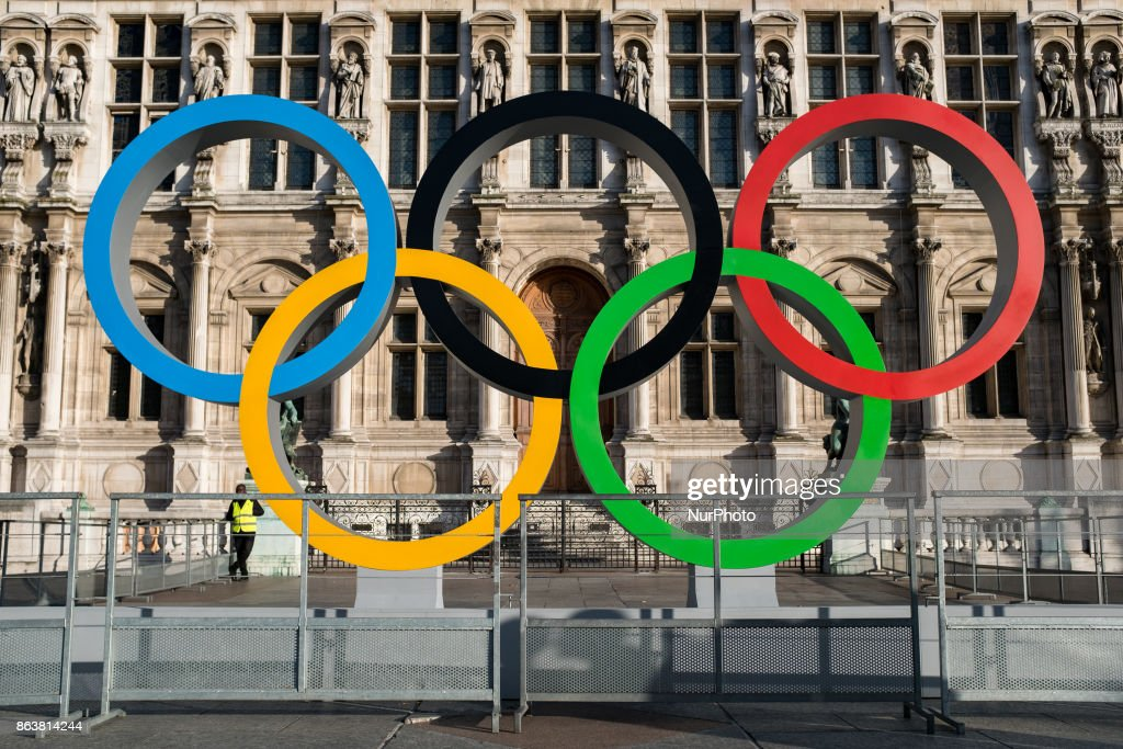 The Olympic rings in Paris