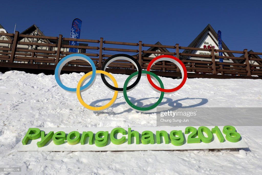 The Olympic rings is seen in Hoenggye town, near the venue for the Opening and Closing ceremony ahead of PyeongChang 2018 Winter Olympic Games on February 4, 2017 in Pyeongchang-gun, South Korea.
