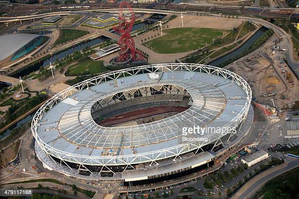 The Olympic Stadium due to be the new home of English Premier League soccer team West Ham is seen in this aerial photograph taken over London UK on...