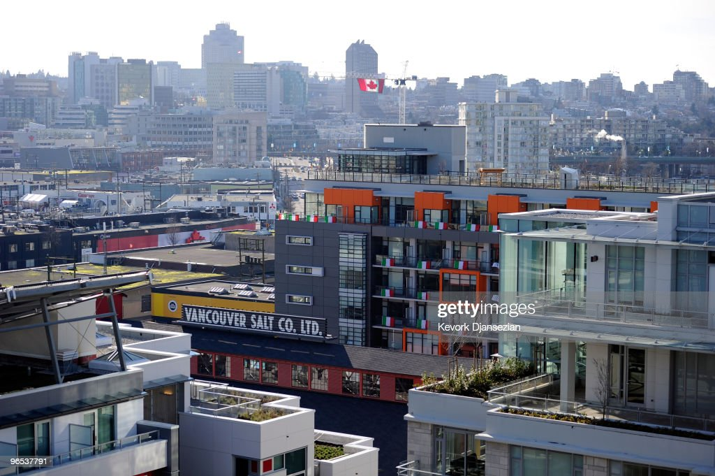 The Olympic Village is pictured ahead of the Vancouver 2010 Winter Olympics on February 9 2010 in Vancouver Canada