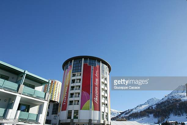The Olympic village is seen January 19 2006 in Sestriere Italy