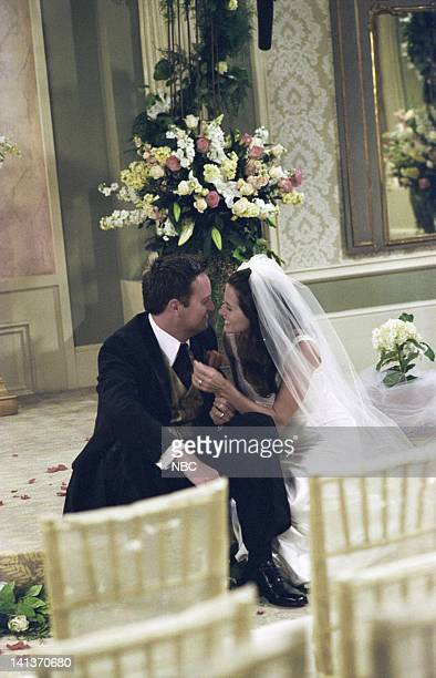 FRIENDS 'The One After 'I Do' Episode 1 Aired Pictured Matthew Perry as Chandler Bing Courteney Cox as Monica GellerBing Photo by Danny Feld/NBCU...