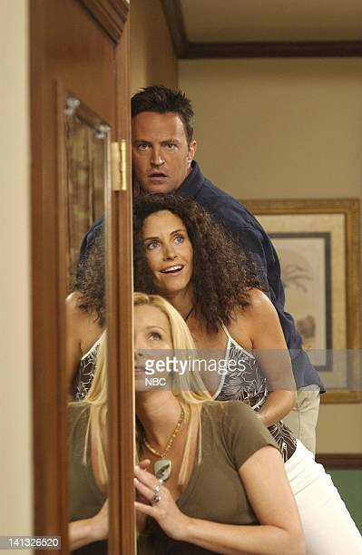 FRIENDS 'The One After Joey And Rachel Kiss' Episode 1 Aired Pictured Matthew Perry as Chandler Bing Courteney Cox as Monica GellerBing Lisa Kudrow...