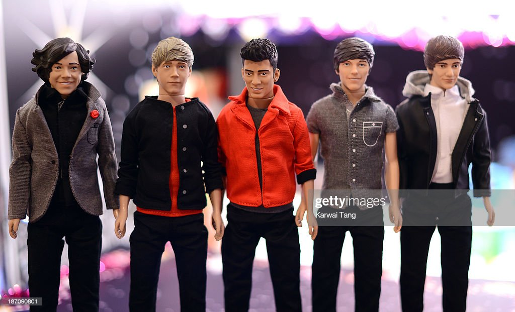 The One Direction Dolls, predicted to be one of the the top 50 toys that will dominate Christmas this year, are unveiled today at the Dream Toys Fair at St Mary's Church on November 6, 2013 in London, England.