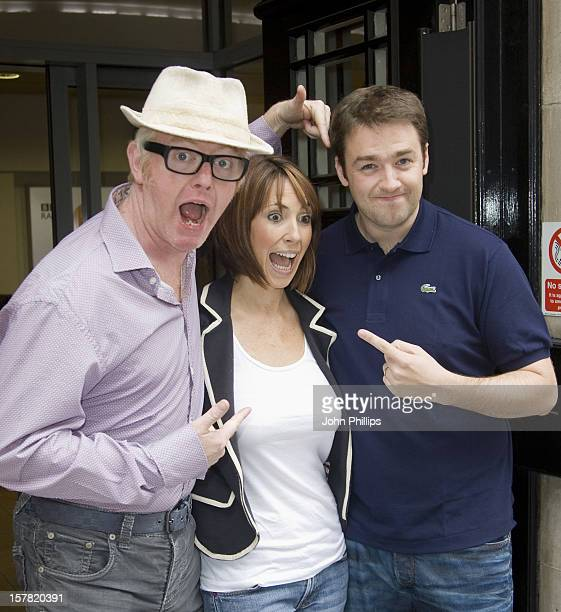 The One Show'S New Presenters Alex Jones And Jason Manford With Chris Evans After The Chris Evans' Radio Show Western House Great Portland Street...