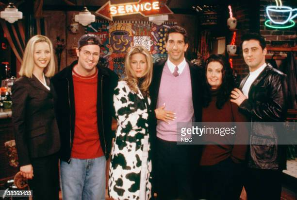 FRIENDS 'The One That Could Have Been Part 1 2' Episode 15 16 Pictured Lisa Kudrow as Phoebe Buffay Matthew Perry as Chandler Bing Jennifer Aniston...