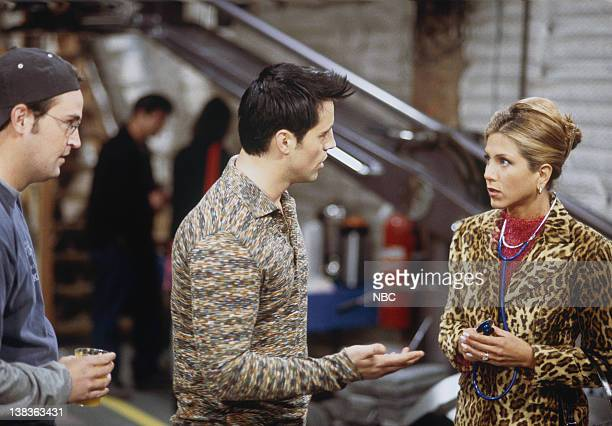 FRIENDS 'The One That Could Have Been Part 1 2' Episode 15 16 Pictured Matthew Perry as Chandler Bing Matt LeBlanc as Joey Tribbiani Jennifer Aniston...