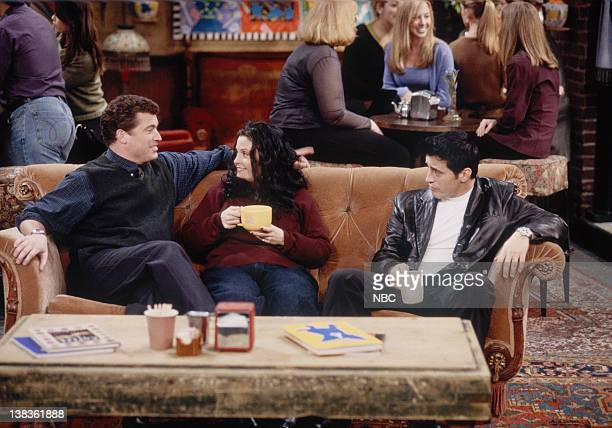 FRIENDS 'The One That Could Have Been Part 1 2' Episode 15 16 Pictured Pat Finn as Dr Roger Courteney Cox as Monica Geller Matt LeBlanc as Joey...