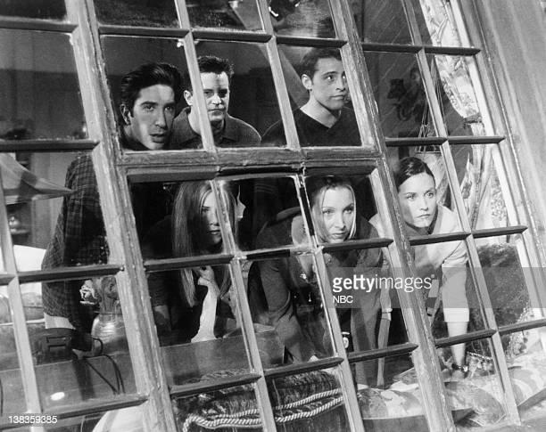 FRIENDS 'The One Where Everybody Finds Out' Episode 14 Air Date Pictured David Schwimmer as Ross Geller Matthew Perry as Chandler Bing Matt LeBlanc...