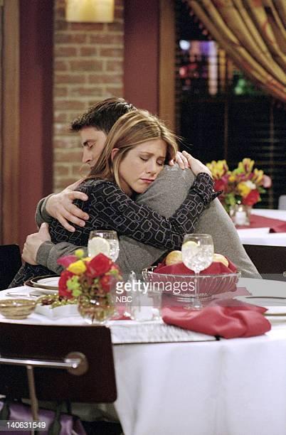 FRIENDS 'The One Where Joey Tells Rachel' Episode 16 Aired 2/28/2002 Pictured Jennifer Aniston as Rachel Green Matt LeBlanc as Joey Tribbiani Photo...
