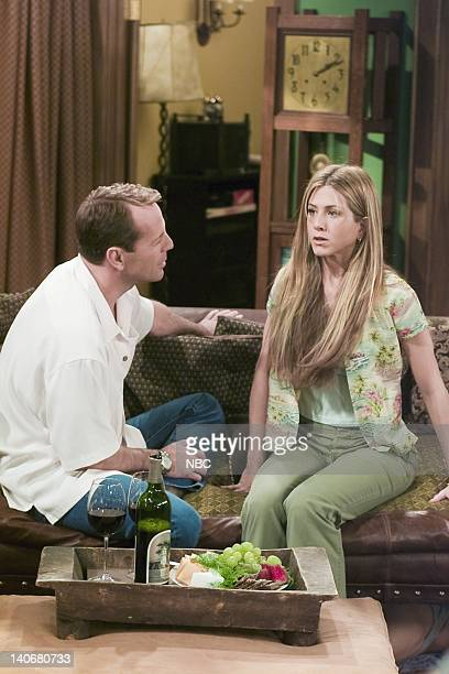 FRIENDS 'The One Where Paul's The Man' Episode 22 Aired Pictured Bruce Willis as Paul Stevens Jennifer Aniston as Rachel Green Photo by NBCU Photo...