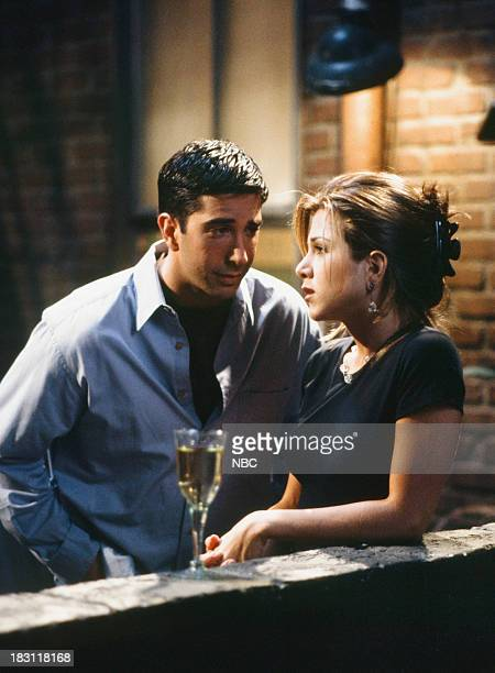 FRIENDS 'The One Where Rachel Finds Out' Episode 124 Pictured David Schwimmer as Ross Geller Jennifer Aniston as Rachel Green