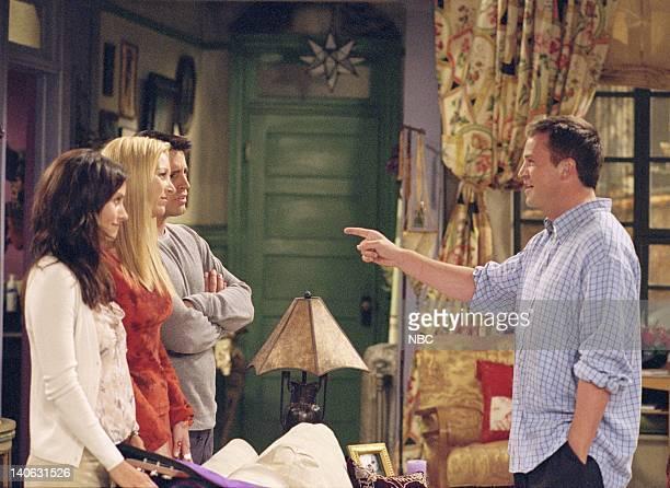 FRIENDS 'The One Where Rachel Tells' Episode 3 Aired Pictured Courteney Cox as Monica GellerBing Lisa Kudrow as Phoebe Buffay Matt LeBlanc as Joey...