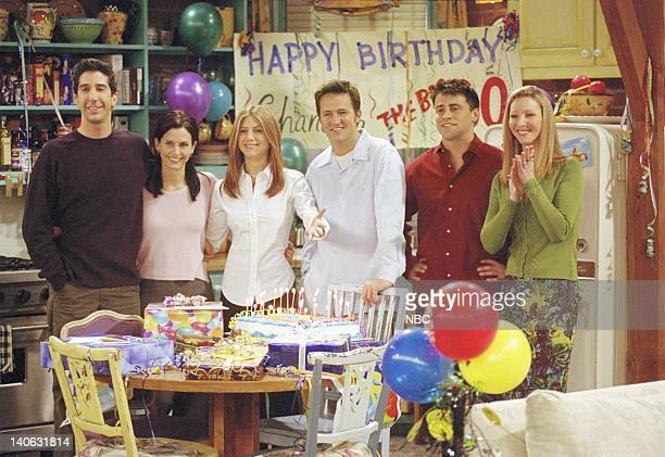 FRIENDS 'The One Where They All Turn 30' Episode 14 Aired 2/8/2001 Pictured David Schwimmer as Ross Geller Courteney Cox as Monica Geller Jennifer...