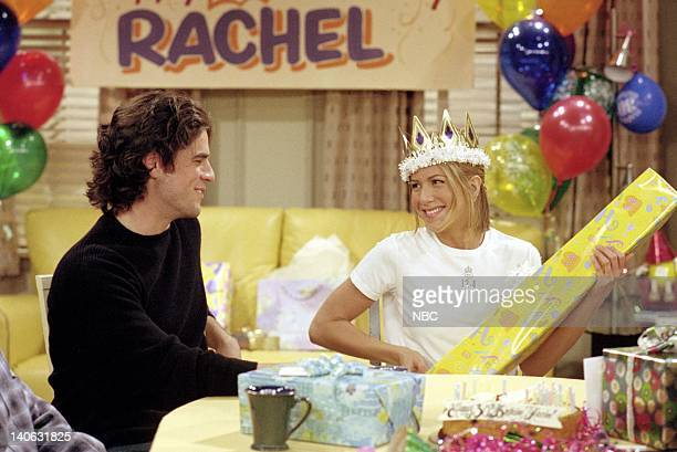 FRIENDS 'The One Where They All Turn Thirty' Episode 14 Aired 2/8/2001 Pictured Jennifer Aniston as Rachel Green Eddie Cahill as Tag Jones Photo by...