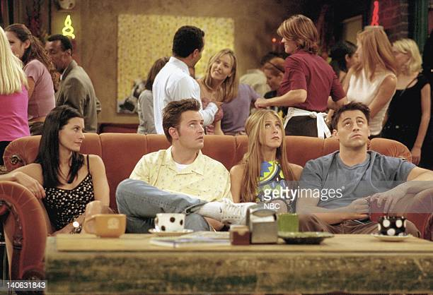 FRIENDS 'The One Where They All Turn Thirty' Episode 14 Aired 2/8/2001 Pictured Courteney Cox as Monica Geller Matthew Perry as Chandler Bing...