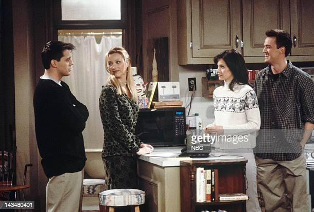 FRIENDS 'The One with All the Jealousy' Episode 12 Pictured Matt LeBlanc as Joey Tribbiani Lisa Kudrow as Phoebe Buffay Courteney Cox as Monica...