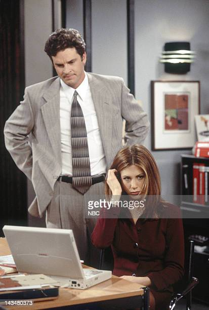 FRIENDS 'The One with All the Jealousy' Episode 12 Pictured Steven Eckholdt as Mark Robinson Jennifer Aniston as Rachel Green