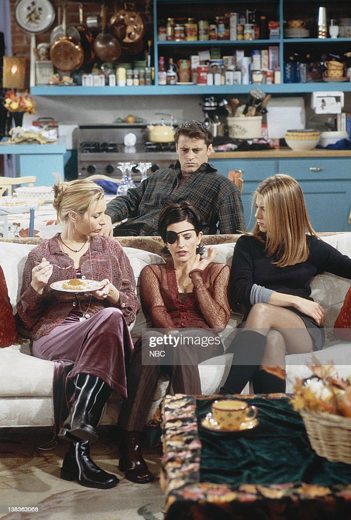FRIENDS 'The One with Chandler in a Box' Episode 8 Pictured Lisa Kudrow as Phoebe Buffay Courteney Cox as Monica Geller Jennifer Aniston as Rachel...
