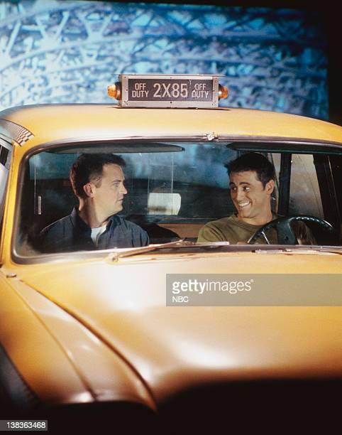 FRIENDS 'The One with Joey's Big Break' Episode 22 Pictured Matthew Perry as Chandler Bing Matt LeBlanc as Joey Tribbiani