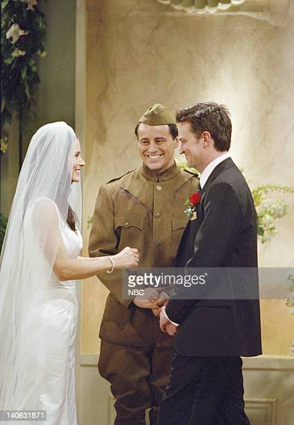 FRIENDS 'The One With Monica And Chandler's Wedding' Episode 24 Aired 5/17/2001 Pictured Courteney Cox as Monica GellerBing Matt LeBlanc as Joey...