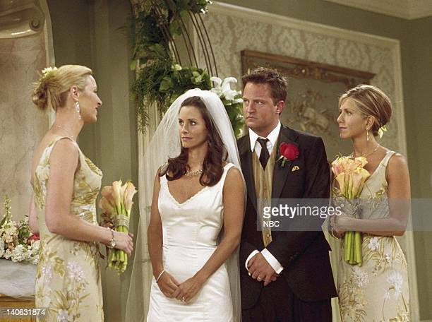 FRIENDS 'The One With Monica And Chandler's Wedding' Episode 24 Aired 5/17/2001 Pictured Lisa Kudrow as Phoebe Buffay Courteney Cox as Monica...