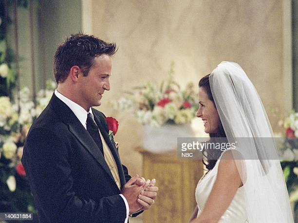 FRIENDS 'The One With Monica And Chandler's Wedding' Episode 24 Aired 5/17/2001 Pictured Matthew Perry as Chandler Bing Courteney Cox as Monica...