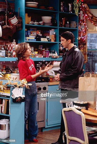 FRIENDS 'The One with Phoebe's Dad' Episode 9 Pictured Jennifer Aniston as Rachel Green David Schwimmer as Ross Geller