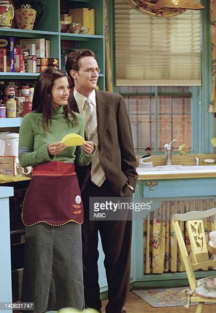 FRIENDS 'The One With Rachel's Assistant' Episode 4 Aired Pictured Courteney Cox as Monica GellerBing Matthew Perry as Chandler Bing Photo by NBCU...