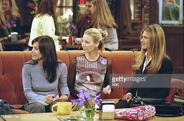 FRIENDS 'The One With Rachel's Assistant' Episode 4 Aired Pictured Courteney Cox as Monica Geller Lisa Kudrow as Phoebe Buffay Jennifer Aniston as...